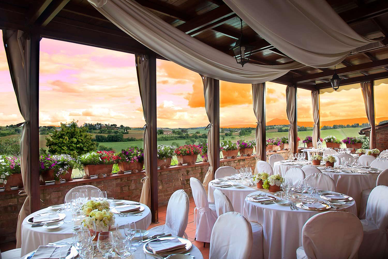 Restaurant mit Panoramablick | Borgo Tre Rose