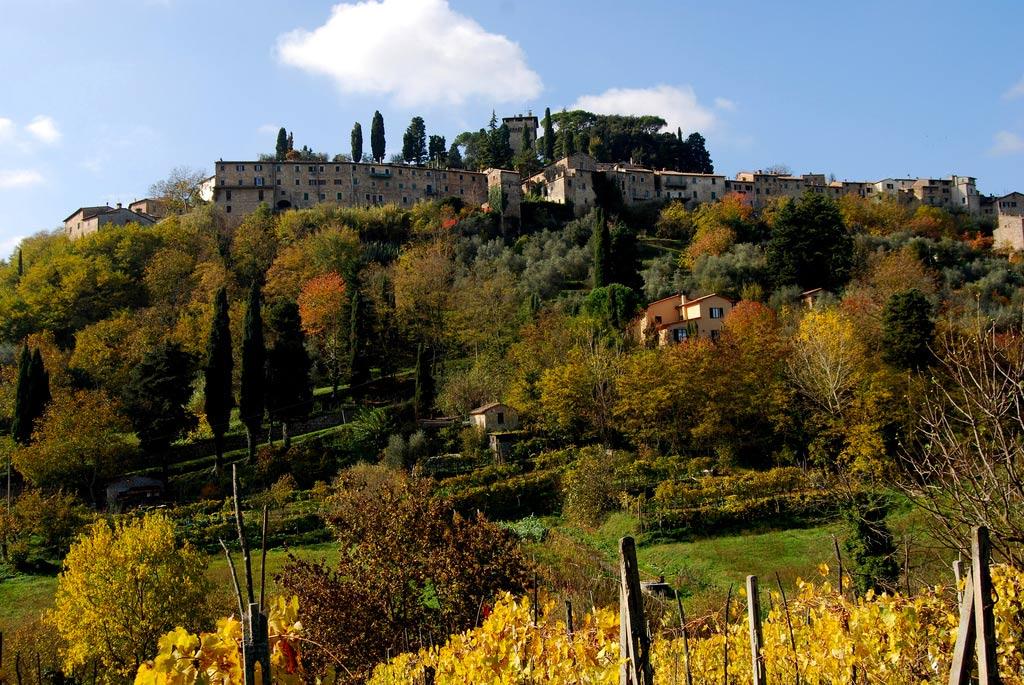 Borgo di Cetona in val di Chiana