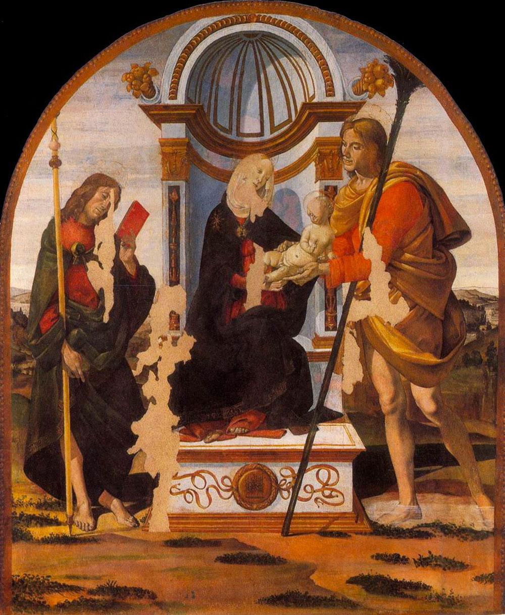 Madonna con bambino e Santi Giacomo e Cristoforo